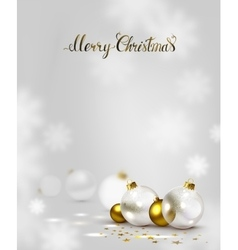 elegant Christmas background with gold and white vector image