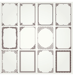 Frames and borders A4 set 4 vector image vector image