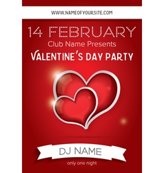 Happy valentines day party flyer design template vector
