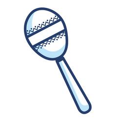 maracas tropical instrument icon vector image vector image