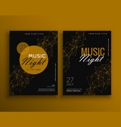 music night party flyer template design vector image vector image