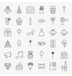 Party Line Icons Set vector image