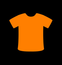t-shirt sign orange icon on black background old vector image vector image