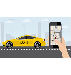 application for ordering a taxi vector image vector image