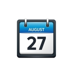 August 27 Calendar icon flat vector image