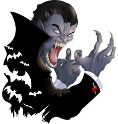 evil vampire picture vector image