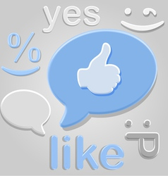 Like group symbols over gray vector image vector image