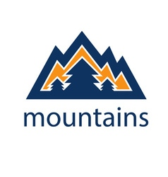 mountains and pines design template vector image