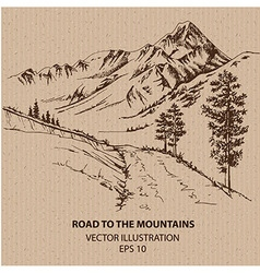 Road to the Mountains vector image vector image