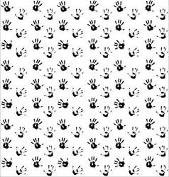 Seamless pattern hand print black vector image