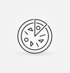 pizza concept icon in thin line style vector image