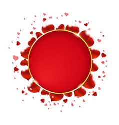 Valentines Day With Hearts And Speech Bubble vector image