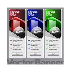 abstract shiny glass banner red green blue vector image vector image