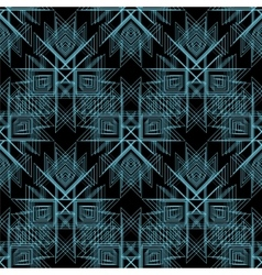 Abstract tribal Seamless Pattern Line vector image