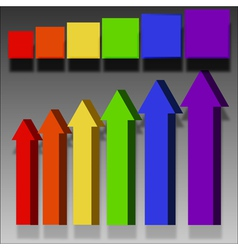 arrows labels elements vector image