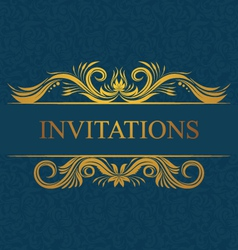 Decorative Invitations Card vector image