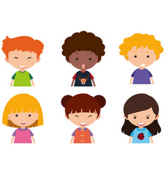 kids with different facial expressions vector image vector image