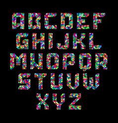 mosaic alphabet vector image vector image