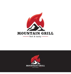 Mountain grill restaurant logo Minimalistic vector image vector image