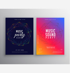 music party flyer template design with digital vector image