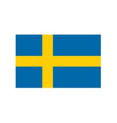 sweden flag pixel art cartoon retro game style vector image vector image