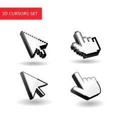 3d cursors set pixel mouse vector image