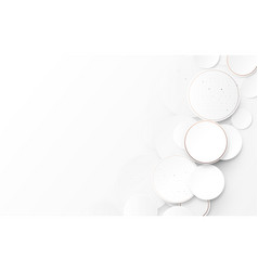 abstract circles white and gray modern background vector image