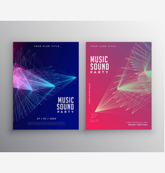 Abstract music flyer template design vector
