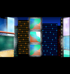 abstract night city background cityscape on a vector image