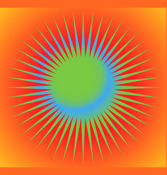 abstract starburst sunburst design element with vector image