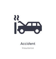 Accident icon isolated accident icon from vector