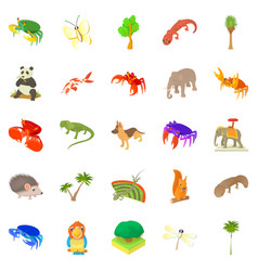 Animal husbandry icons set cartoon style vector
