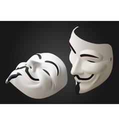 Anonymous mask 3d isometric vector
