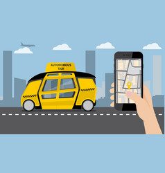 Application for ordering a taxi vector