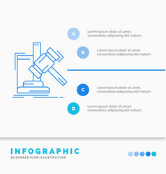 Auction gavel hammer judgement law infographics vector