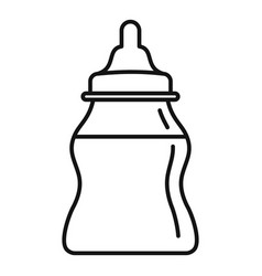 baby milk bottle icon outline style vector image