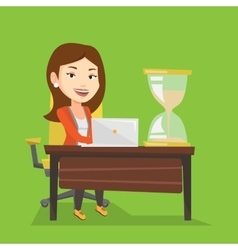 Business woman working in office vector