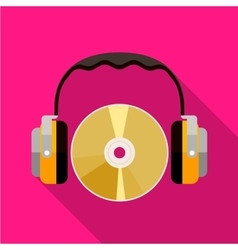 CD and headphones icon vector