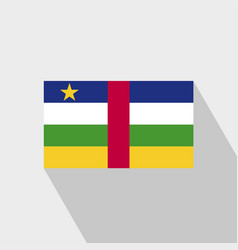 central african republic flag long shadow design vector image