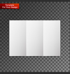close up of a leaflet blank white paper vector image