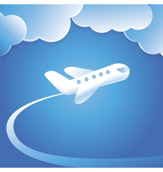 concept with flying plane vector image vector image