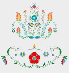 Crimean tatar floristic ornament vector