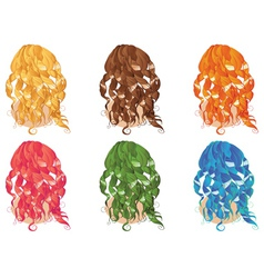 Curly Hair Styles vector image