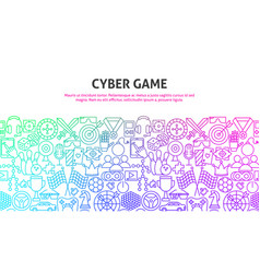 cyber game concept vector image