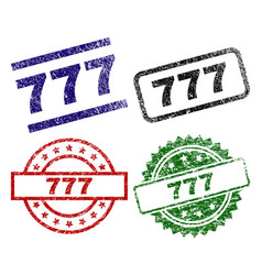 Damaged textured 777 seal stamps vector