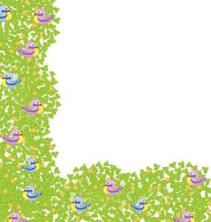 Decorative corner element with birds vector image