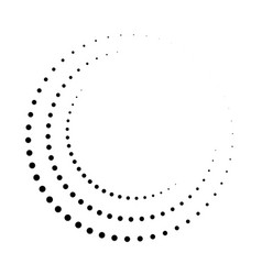 Dot circle pattern halftone circular burst vector
