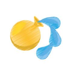 Drawing april fools day balloon vector