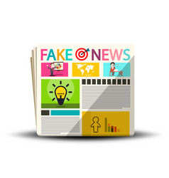 fake news newspapers newspaper magazine cover vector image