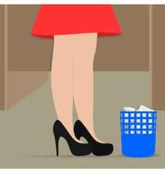 Female legs vector image